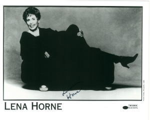 Lena Horne 'MUSIC JAZZ', 'Stormy Weather' - Genuine Signed Autograph 10x8  10685